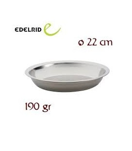 STAINLESS STEEL PLATE 22 x 3 cm - EDELRID