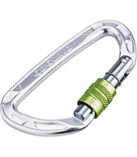 MOSQUETÓ PURE SCREW - EDELRID - COLOR PLATA