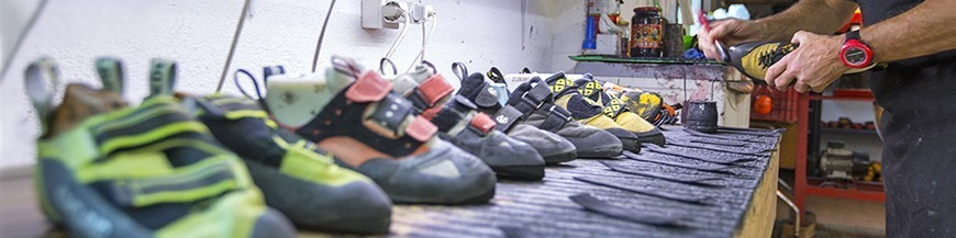 Repair of climbing shoes online